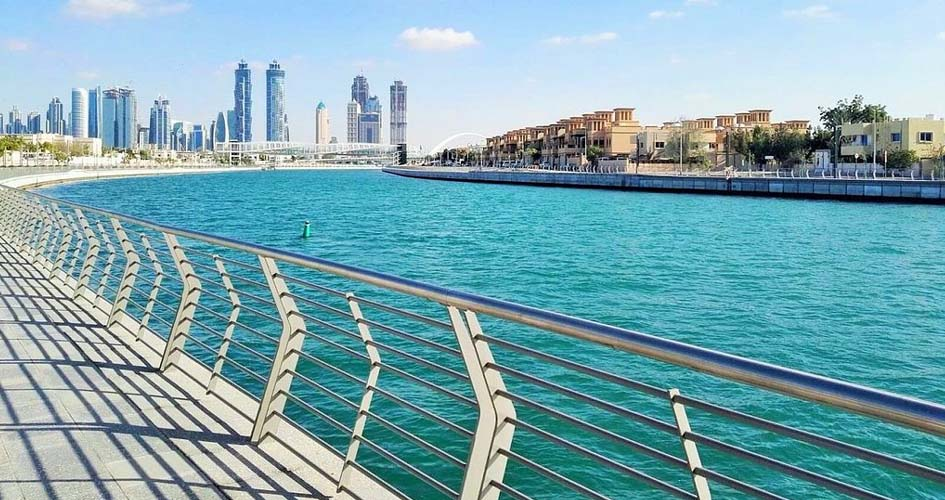 Dubai Water Canal from the Boardwalk