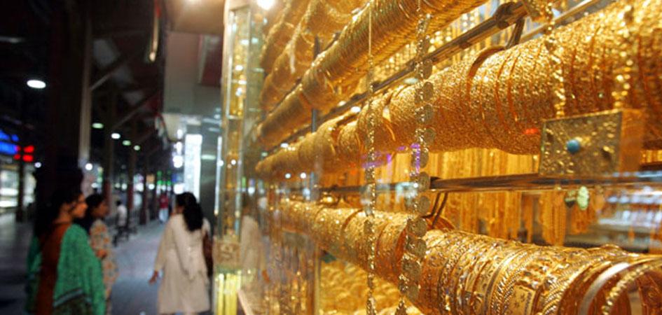 Gold souq market in dubai